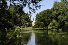 Der Südpark ist mit einer Gesamtfläche von 70 ha der größte und meist besuchte Düsseldorfer Park. Ausschlaggebend für die Beliebtheit der Anlage sind sicherlich das 30 Kilometer lange Wegenetz und die Vielfalt, die den Besuchern hier geboten wird. Der Park besteht aus drei sehr unterschiedlichen Teilen: Volksgarten, 'Vor dem Deich' und 'In den Gärten'.  Der Volksgarten, als ältester Teil des Südparks, wurde 1895/96 fertiggestellt und bildete im 19. Jahrhundert die grüne O...