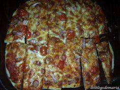 Pizzas, una masa, dos rellenos