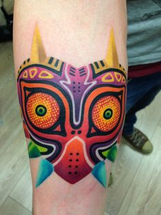 Not a fan of the generic Majora's Mask tattoos but I like the art style on this one