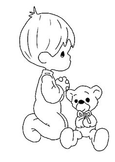 Free Valentine Pictures to Color teddy bear with rose coloring