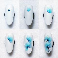 Colored Acrylic Nails, Best Acrylic Nails, Acrylic Nail Art, Gel Nail Art, Water Nail Art, Water Color Nails, Nail Art Disney, Violet Pastel, Nail Techniques
