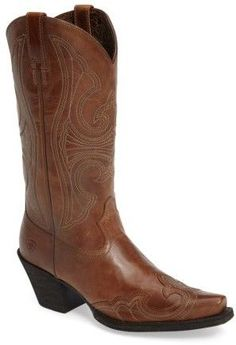Ariat Women's Round Up D-Toe Wingtip Western Boot Cowgirl Boots, Western Boots, Country Life, Westerns, Nordstrom, Toe, Pairs, Leather, Fashion