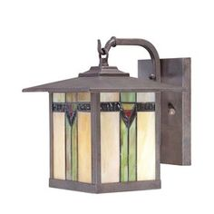 exterior light with some tiffany glass