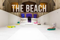 The beach installation by Snarkitecture Milan  Italy