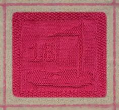 18th Hole  - Hand knit pink cotton cloth made by hebeegeebeads