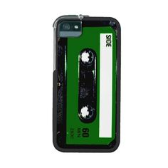 Green Label Cassette iPhone 5 Cases