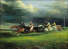Theodore Gericault: Derby at Epson, 1820
