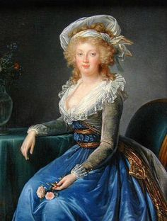 Maria Theresa of Bourbon by Elisabeth Vigee-Lebrun, 1790. In the collection of the Musée Condé, Chantilly.