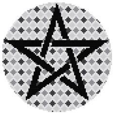 Argyle Pentagram - Negativity Counted Cross stitch Pattern