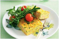 Carrot And Zucchini Slice by Taste. Carrot gold — for a vegetable that's simply tops, you can't go past this trusty rabbit-magnet! Vegetarian Recipes, Snack Recipes, Cooking Recipes, Healthy Recipes, Yummy Recipes, Recipies, Egg Recipes, Yummy Yummy, Vegetarian Salad