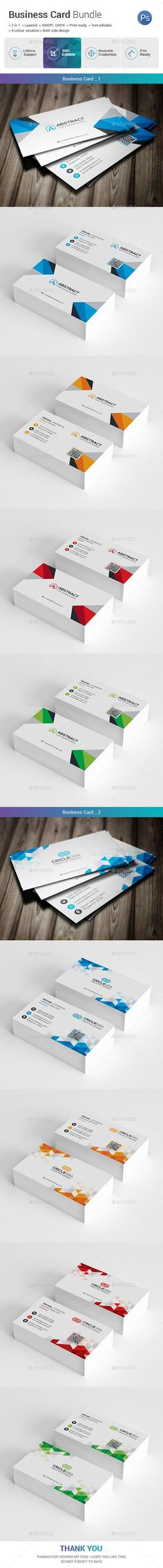 #Business #Card Bundle 2 in 1 - Business Cards Print Templates