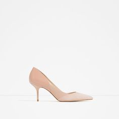 Image 1 of MID-HEEL LEATHER SHOES from Zara