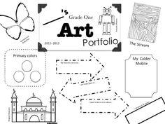 Princess Artypants: Visual Arts in the PYP: Portfolio cover sheets