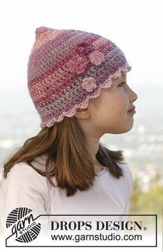 A pretty #crochet hat for your princess #dropsbigdelight #garnstudio