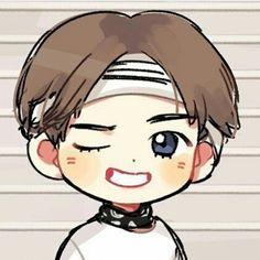 V Cute, Funny Cute, Cute Boys, Bts Chibi, Anime Chibi, Bts Drawings, Cartoon Drawings, Taehyung Fanart, Kpop Fanart