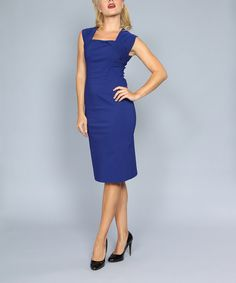 Look at this #zulilyfind! Tatyana Blue Ella Sheath Dress - Women & Plus by Tatyana #zulilyfinds