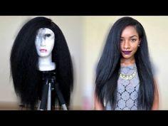 Kinky Straight Hairstyle Under $20! TheBrilliantBeauty - YouTube