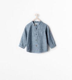 MAO COLLAR SHIRT from Zara