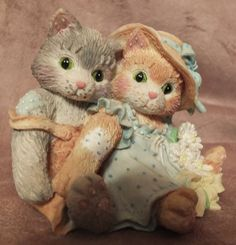 1993 Enesco Calico Kittens Friendship Is A by MoonbearConnections