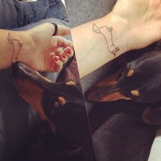 #tattoo #dachshund #love