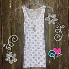 VS PINK Graphic Tank Top  Victoria's Secret PINK  White Wife Beater Tank Top with Navy Graphics  Size XS  Perfect NWOT Condition  NO TRADE ✌ Price is Firm unless Bundling for further Discount ✌️ Victoria's Secret Tops Tank Tops