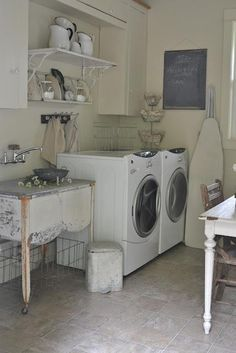 i totally want this laundry room !