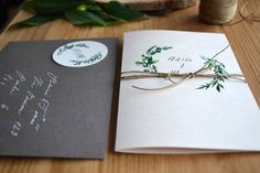 """Svatební oznámení """"Green love"""" / Zboží prodejce atelier MADE Green, Atelier"""