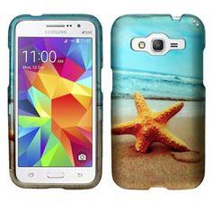 Insten Star Fish Hard Cover Case For Samsung Galaxy Core Prime - Blue/Yellow - Walmart.com