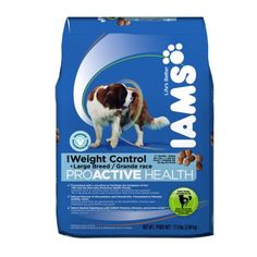 $22.31-$22.31 Iams Proactive Health Adult Weight Control Large Breed, 17.5-Pound Bags - Iams ProActive Health Weight Control is specially formulated with L-Carnitine to help return dogs ages 1+ and 50+  pounds to a healthier weight and keep them at their best. http://www.amazon.com/dp/B005DQCME8/?tag=pin2pet-20