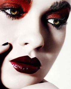 *Editorial makeup look. High Fashion Makeup, Sexy Makeup, Beauty Makeup, Makeup Looks, Nail Art Designs, Makeup Designs, Nails Design, Essie, Milky Nails