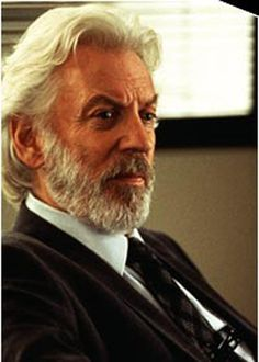 Donald Sutherland Cast as President Snow in 'The Hunger Games' Famous Men, Famous Faces, Donald Sutherland, Kiefer Sutherland, President Snow, Long Beards, Director, Hollywood Actor, Aging Gracefully