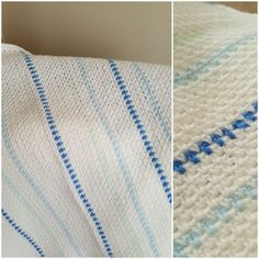 Easy textured striped baby blanket