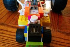 Check out this littleBits project! Little lego tank