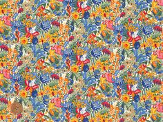 Diane, Liberty Tana Lawn Fabric, Liberty of London, Liberty Japan, Cotton Print Scrap, Colorful Floral Design, Quilt, Patchwork, JapanLovelyCrafts