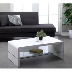 1000 images about table basse on pinterest bass oslo - Table basse ovale blanc laque ...
