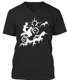 Dirtbiking T Shirt Funny Dirt Bike Shirt Black T-Shirt Front