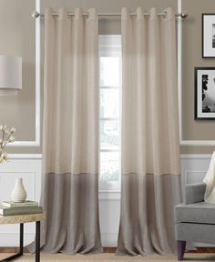 Elrene Melody Sheer Colorblocked Panel Collection - Window Treatments - For The Home - Macy& Home Curtains, Window Curtains, Window Panels, Rideaux Design, Living Room Decor, Bedroom Decor, Modern Bedroom, Bedroom Furniture, Interior Window Shutters