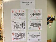 Tänään jatkoimme Kalevala-teemalla. Viitoset valitsivat ensin verkosta löytyvästä Kalevalasta mielestään kiinnostavia sanoja sisältävän koh...