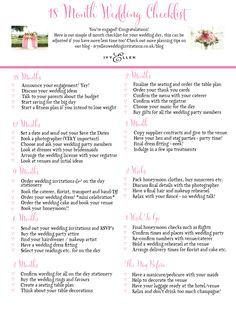 Print out your own wedding checklist wedding party ideas ivy ellens 18 month wedding checklist great to print save or share http junglespirit Gallery