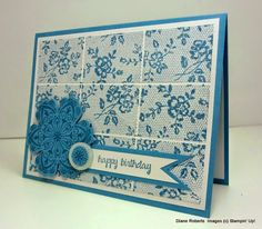 I Love Lace Stamp Set; And Many More Stamp Set; Mixed Bunch Clear Stamp Set; Blossom Punch; Marina Mist Ink