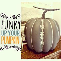 Painted Pumpkins Fall Decor #FallIntoAutumn #FallDIYandCrafts