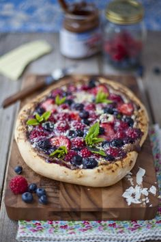 Summer Berry Sweet Pizza. Dessert and dinner in one? I'm down.