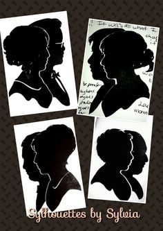 Couples silhouette /double silhouette. A