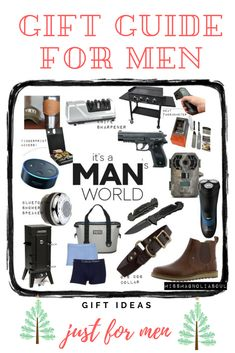 Are you looking for MEN'S GIFT IDEAS for Christmas presents? Click here for complete men's gift guide for 2017 holiday shopping. Find the perfect Christmas gift for your husband, father, grandfather, or boyfriend this 2017. Men's Gift Ideas for 2017.