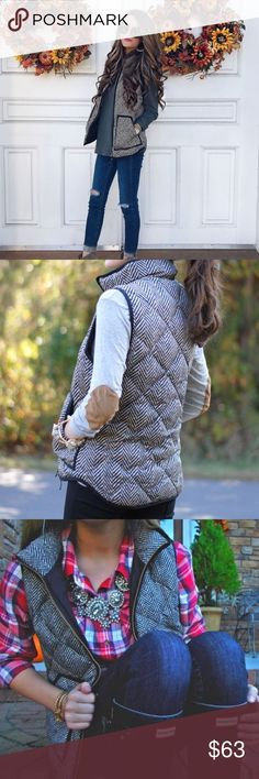 NEW ARRIVAL ✨ Herringbone Vest MUST HAVE VEST!! So stunning! You can wear this baby with ANYTHING!! Back side has beautiful Quilted look! True to size! Price Firm Unless Bundled! Jackets & Coats Vests