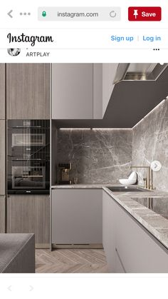 26 Ideas kitchen grey countertops interior design for 2019 Concrete Interiors, Modern Kitchen Interiors, Luxury Kitchen Design, Kitchen Room Design, Kitchen Dinning, Best Kitchen Designs, Kitchen Cabinet Design, Kitchen Colors, Home Decor Kitchen