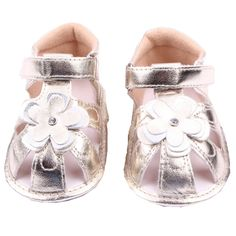 xhorizon TM FLK Toddler Baby Girls Kids Flower Bling Leather Sandal Shoes. 100% brand new, made of bling PU leather!. Color:Silvery/Golden (Cause from different computer and light effects, the colors of the real item would be a bit different from the photos! Thanks a lot!). Size: Size11(10.5cm/4.1inch,0-6 Months) Size12(11.5cm/4.5inch,6-9 Months) Size13(12.5cm/4.9inch,9-12 Months) Please notice that age here is just for guidance only, you need to measure your baby's feet before you place…