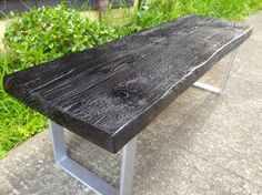 Shou Sugi Ban Style Cedar Coffee Table/Bench - Ambrose Woodworks