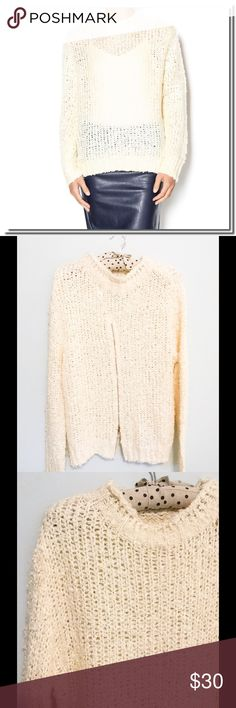 🎀SALE 🎀Bishop &Young Sweater with Back zipper EUC - Worn once. Cozy ivory sweater long sleeve knit sweater with a high mock neck and exposed zipper opening in the back.   Brand: Bishop + Young  Fiber Content: 100% acrylic (View Fabric Guide) Bishop and Young Sweaters Crew & Scoop Necks