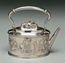 Tiffany coin silver teapot: Love to have this in my collection.
